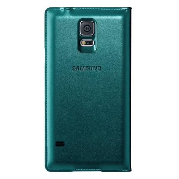 Fönsterfodral till Samsung Galaxy S5 - Grön