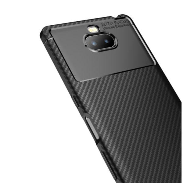 Kolfiberskal Drop-Resistant till Sony Xperia 10 - Svart