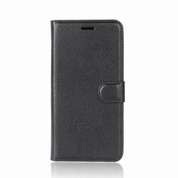 Litchi läderfodral till OnePlus 5 - Svart