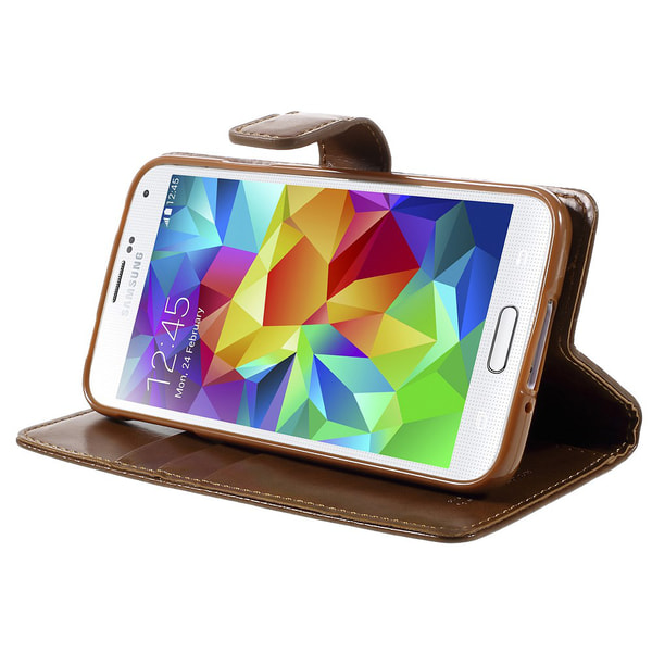 Mercury Goospery Blue flipfodral till Samsung Galaxy S5-Brun