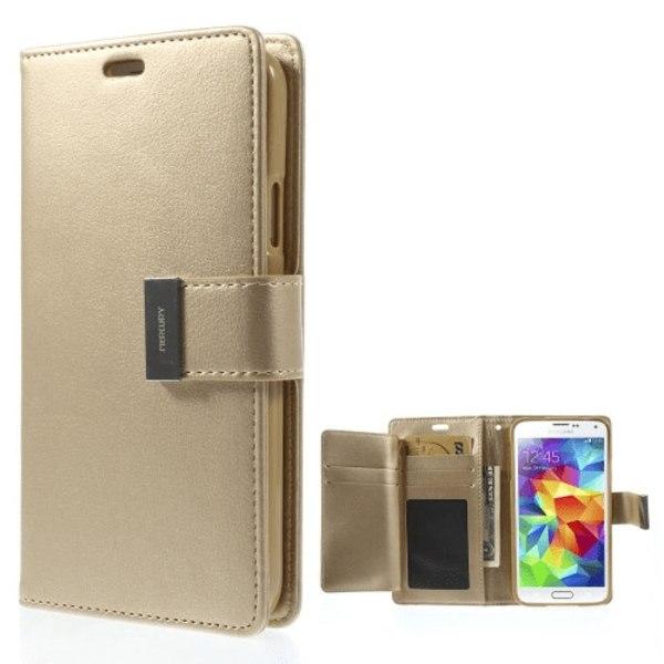 Mercury Rich läderfodral till Samsung Galaxy S5, Champagne