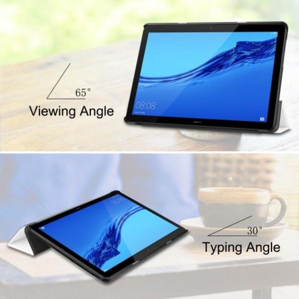 Tri-fold PU Fodral till Huawei MediaPad T5 10 - Rosa