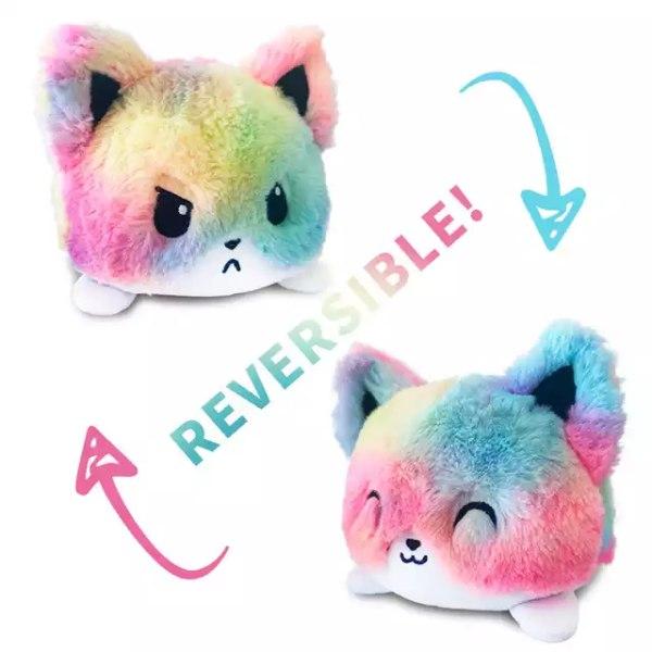 Vändbart mjukisdjur katt, Multi färg