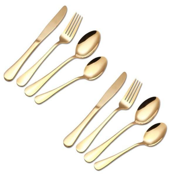 8st Bestick Set Guld