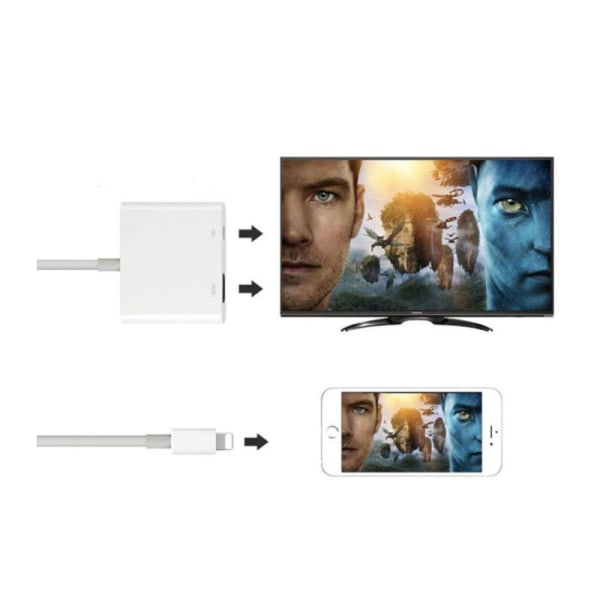 Apple-kompatibel HDMI-kontakt AV-adapter