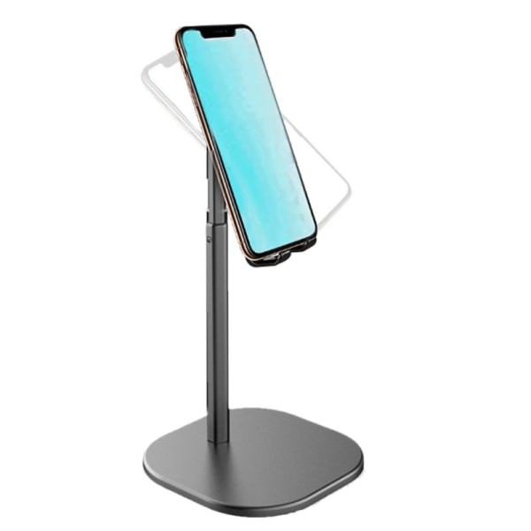 Höjdjusterbar stativhållare för telefon eller surfplatta Svart