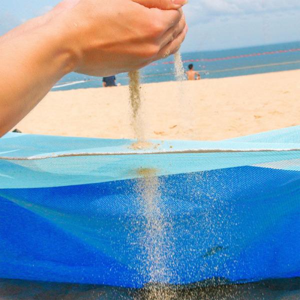 Sandfri strandfilt  Blå