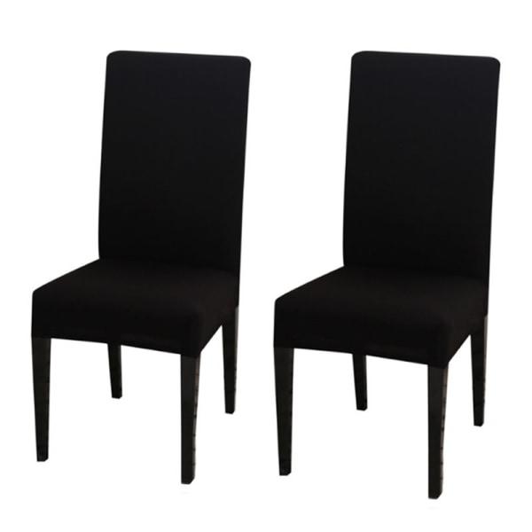 Två stretchbar matstolskydd Vanlig svart