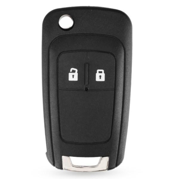 2-knapps fjärrnyckelskal för Chevrolet Svart