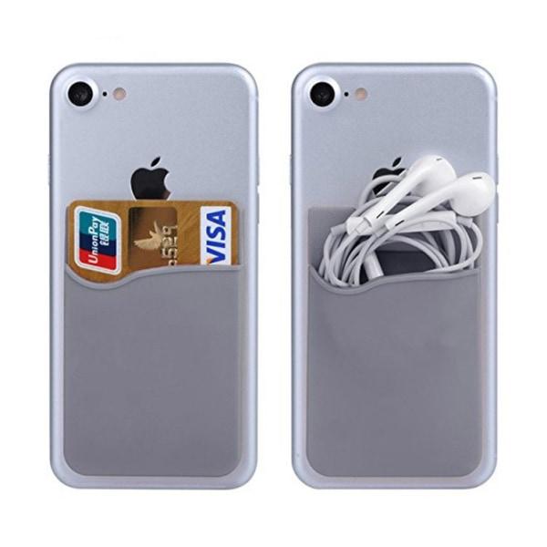 Silikon socka plånbokskortsmall med klistermärke grå grå one size