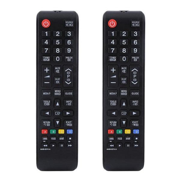 2x Universell fjärrkontroll ersätter Samsung HDTV LED Svart