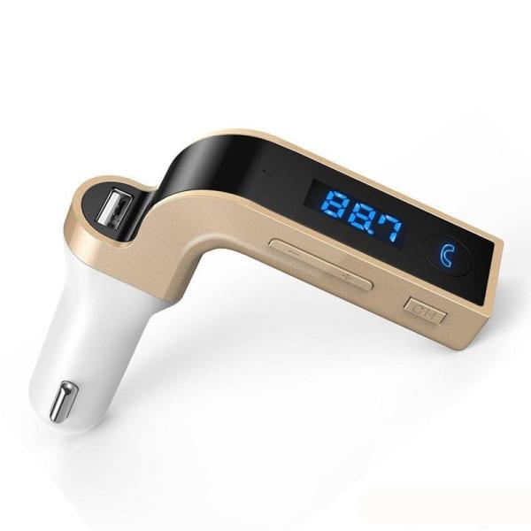 Bluetooth bil FM-sändarmodulator MP3 USB-guld Guld