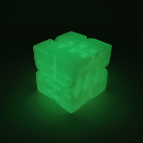 Infinity fidget kub stress / ångest lättnad spel pussel Mörkgrön