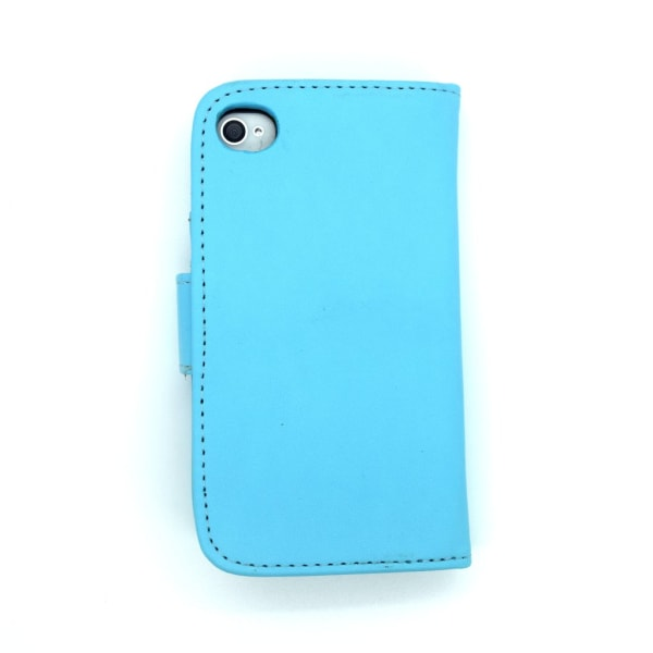 Iphone 4 4S Fodral Plånbok Skal Cross Case Blå Blå