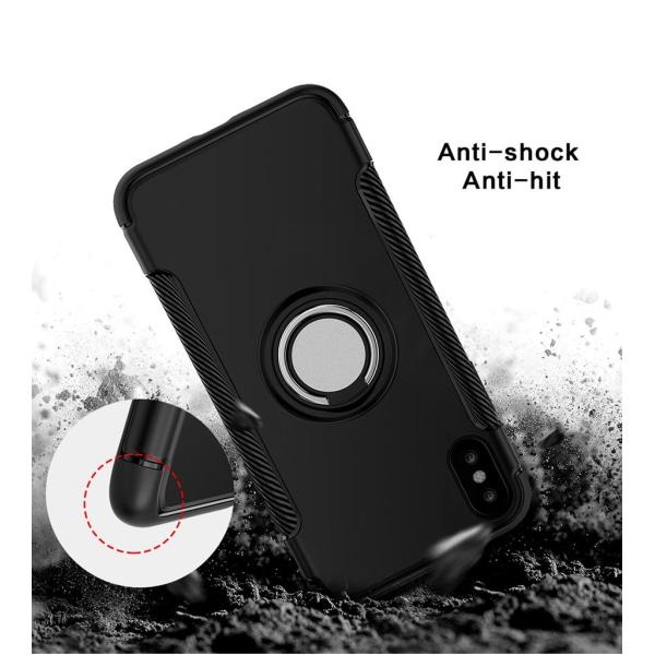 Iphone X/XS hybrid armor skal magnetic case svart Svart