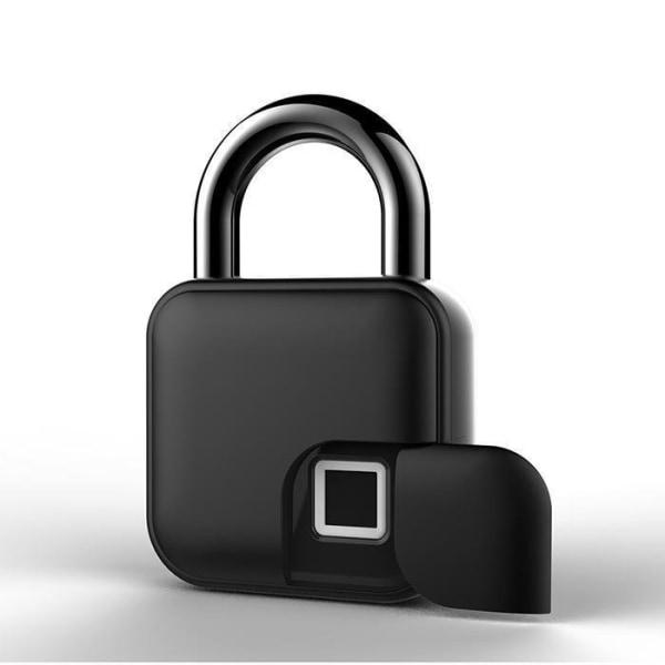 Nyckellös USB-fingeravtryck zinkmetall vattentät smartlås L40 Svart