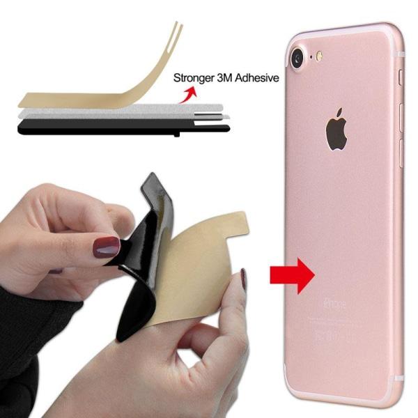 2x Silikonsocka plånbokskort med kontrastficka svart Svart one size