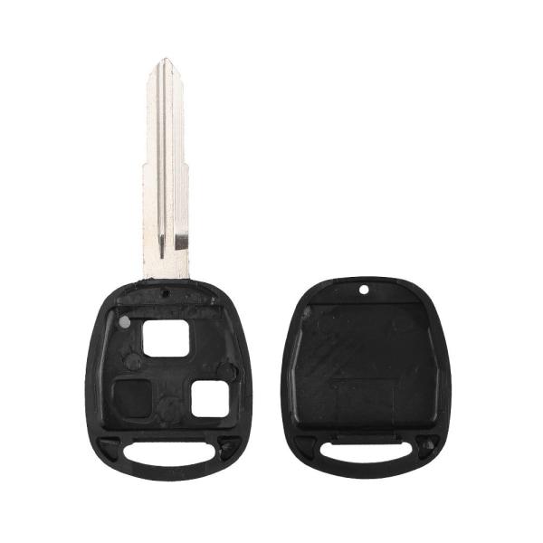Toyota 2-knapps bilnyckel TOY41 + knappsats Vänster blad Svart