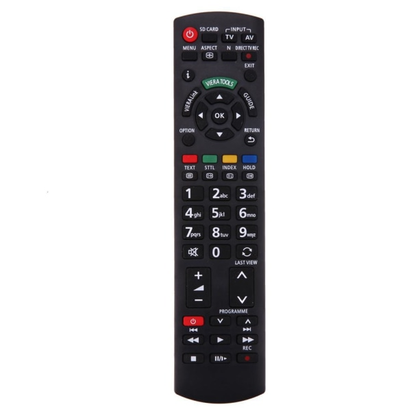 TV-ersättning fjärrkontroll Panasonic N2QAYB EUR Svart