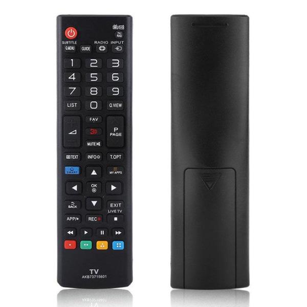 Universal fjärrkontroll LG ersättning AKB73715601 Svart
