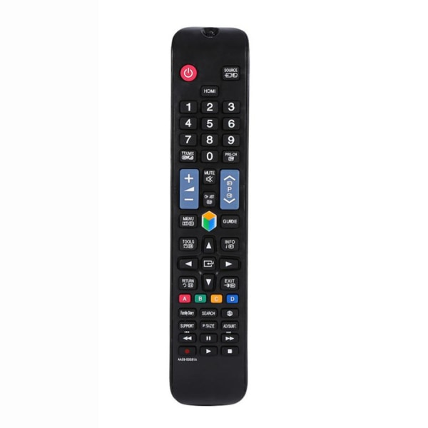 Universell fjärrkontroll ersätter Samsung smart TV Svart