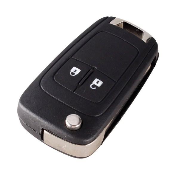 Vänd fällbar fjärrnyckelväska Opel 2-knapp HU100 Svart