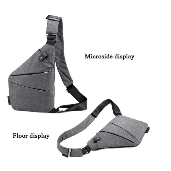 Slingbag / axelväska / bröstväska otroligt slim grå