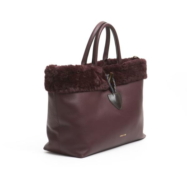 Handbag Burgundy Cerruti 1881 Woman Unique