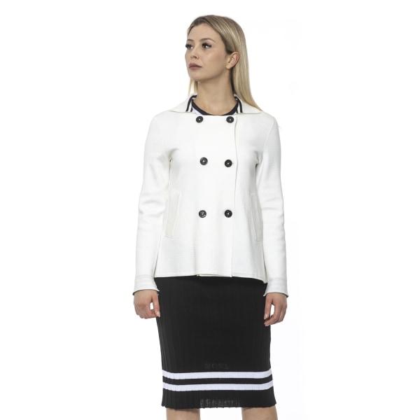 Jacket White Alpha Studio Woman UK 6 - XS