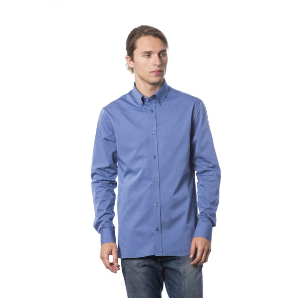 Long sleeves shirt Light Blue Roberto Cavalli Man 4XL