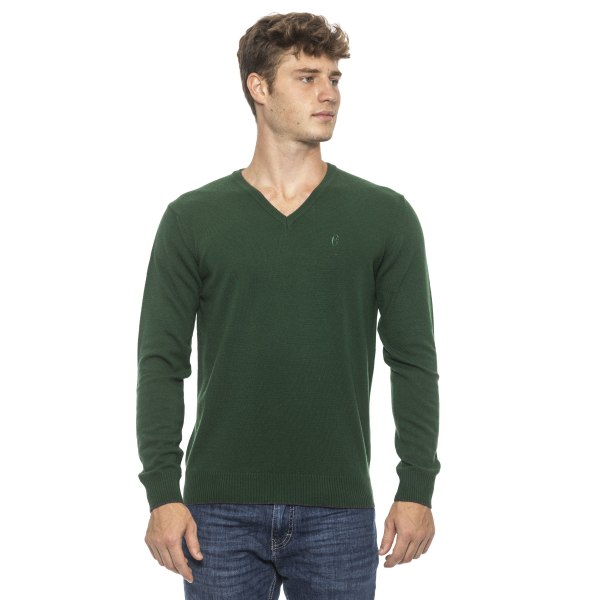 Pullover Green Conte of Florence Man S