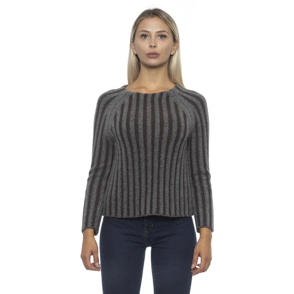 Pullover grey Alpha Studio Woman 44