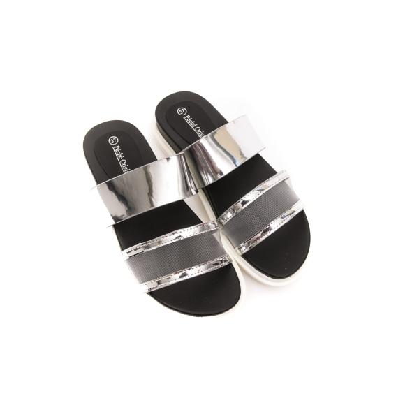 Sandals Silver Péché Originel Woman 41 EU - 7,5 UK