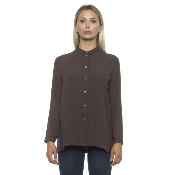 Shirt Brown Alpha Studio Woman 40