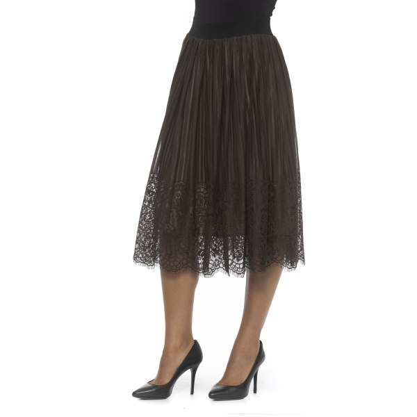 Skirt Brown Alpha Studio Woman 40