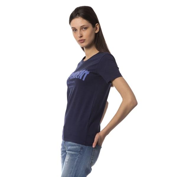 T-shirt Blue Frankie Morello Woman XXS