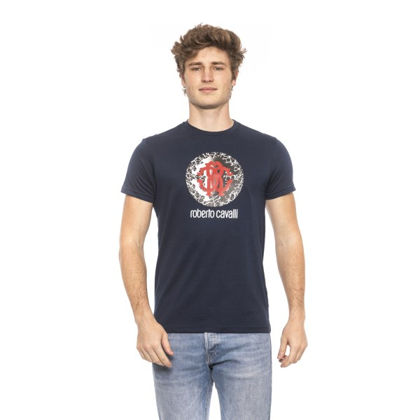 T-shirt Blue Roberto Cavalli Man