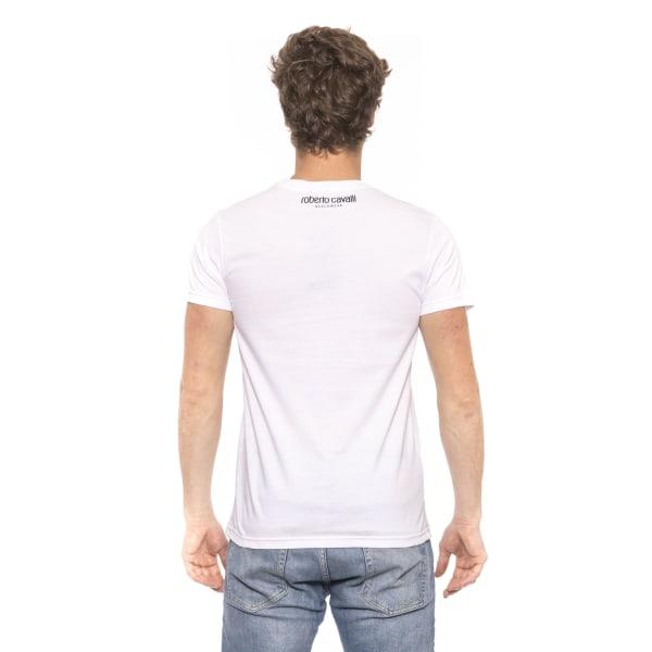T-shirt White Roberto Cavalli Man