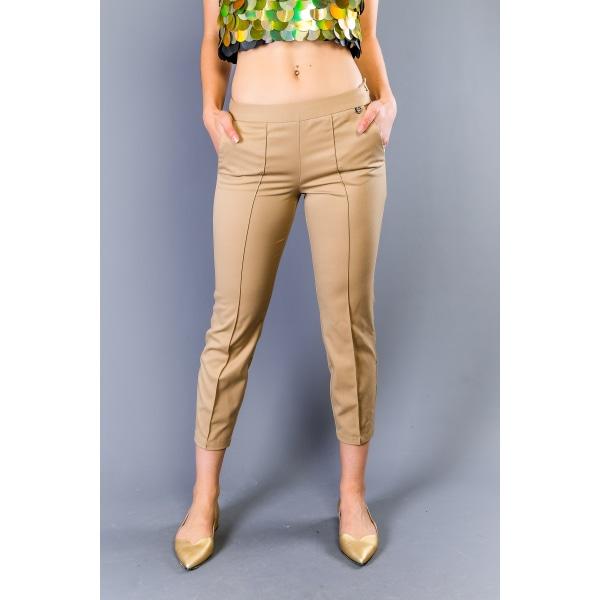 Trousers Beige Twinset Woman UK 10 - M