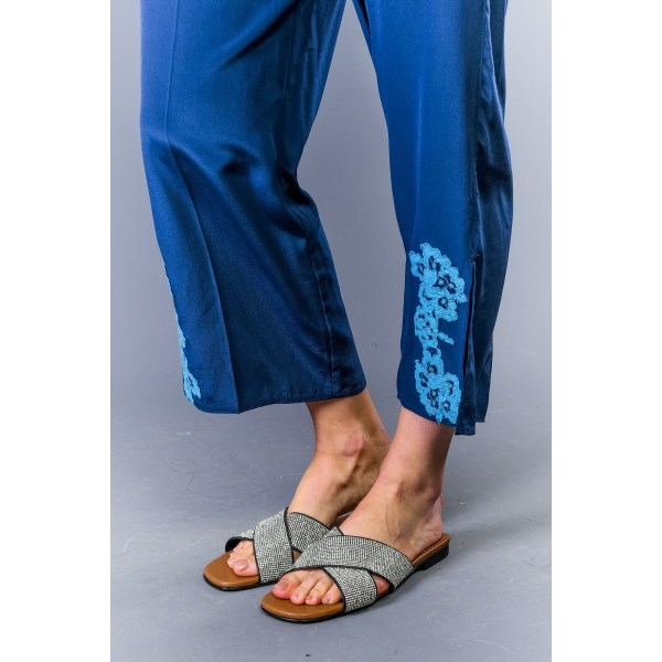 Trousers Blue Twinset Woman 42