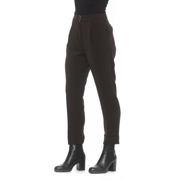 Trousers Brown Alpha Studio Woman 46