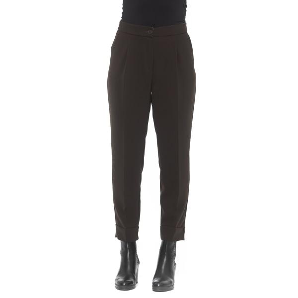 Trousers Brown Alpha Studio Woman 38