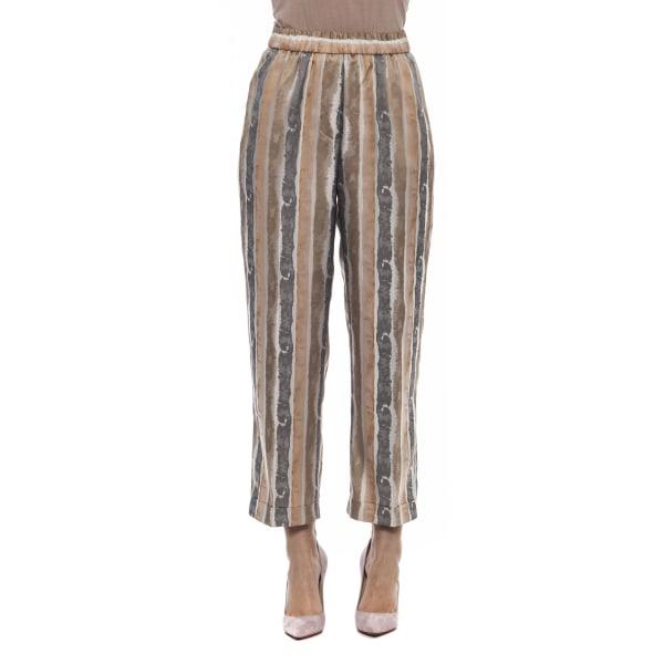 Trousers Brown Peserico Woman UK 14 - XL