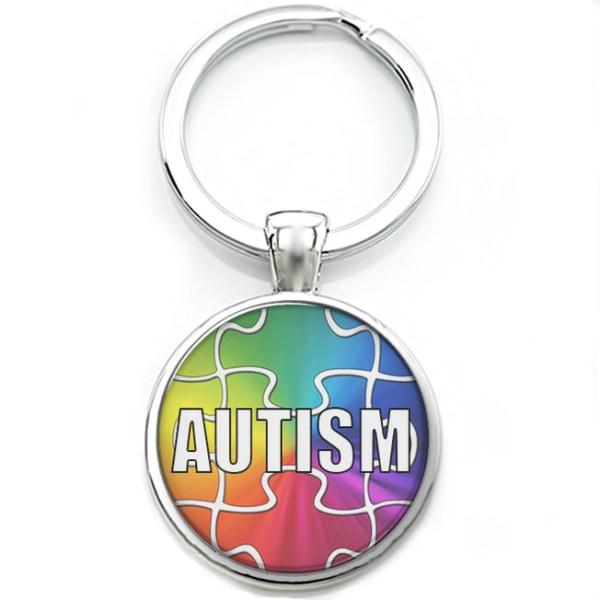 Nyckelring Nyckelknippa Cabochon Autism