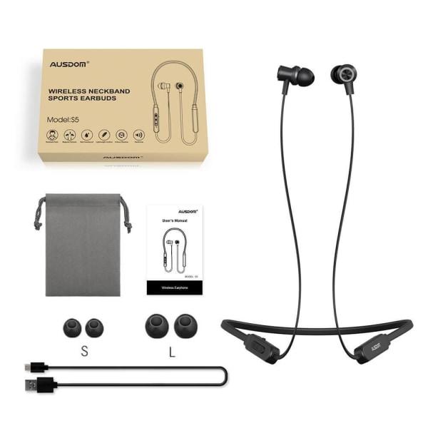 Ausdom S5 in-ear Bluetooth 4,2 Sporthörlurar Svart