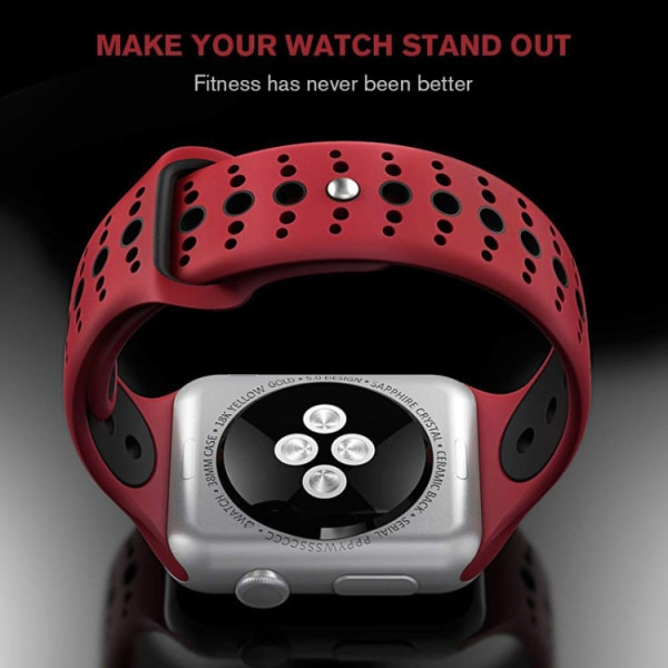 För Apple Watch 42/44mm  silikon Sport klockarmband Vit