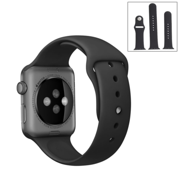 För Apple Watch 42mm  silikon Sport klockarmband Grön