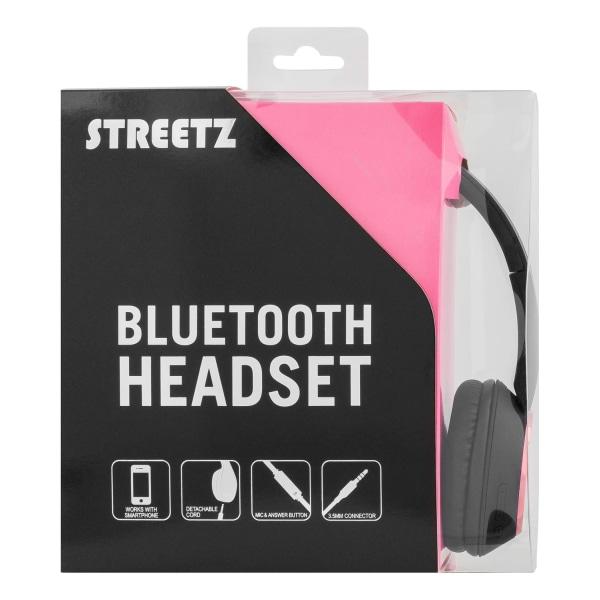 STREETZ Bluetooth-hörlurar med mikrofon Bluetooth 4.2 Rosa