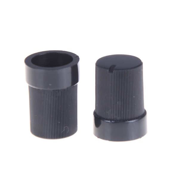 10 st Svart plastpotentiometer Rotary Control Knops Caps fo