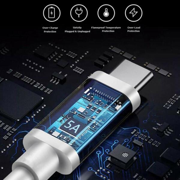 100W 5A PD USB C till USB Type C-kabel för snabb laddning 4.0 Type-C